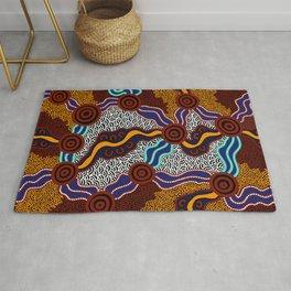 Authentic Aboriginal Art -  Rug