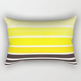 Yellow Minimalist Watercolor Mid Century Staggered Stripes Rothko Color Block Geometric Art Rectangular Pillow