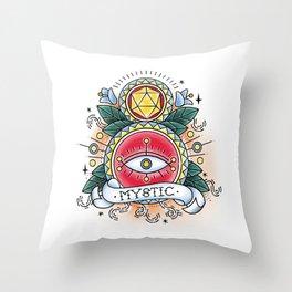 Mystic - Vintage D&D Tattoo Throw Pillow