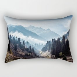 VALLEY - MOUNTAINS - TREES - RIVER - PHOTOGRAPHY - LANDSCAPE Rectangular Pillow