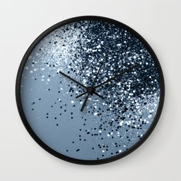 Sparkling Blue Lady Glitter #1 #shiny #decor #art #society6 Wall Clock