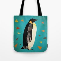 penguin Tote Bags featuring penguin by gazonula