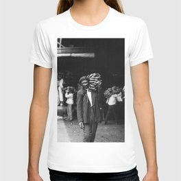 Unloading Bananas 1920s New Orleans Vintage Photograph T-shirt