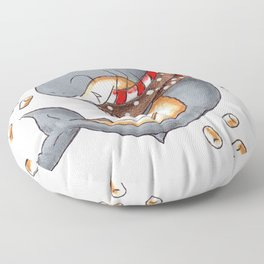 Hot Cocoa Shark Floor Pillow