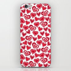 MESSY HEARTS: RED iPhone Skin