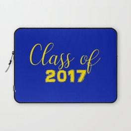 Class of 2017 - Blue Yellow Laptop Sleeve
