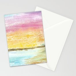 Magic Sunset Watercolor Art Stationery Cards