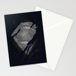 THE DEATH OF MEN OF STEEL Stationery Cards