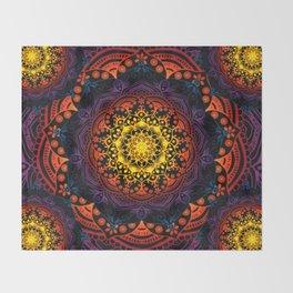 'Bohemian Summer' Multi-Coloured Mandala Throw Blanket