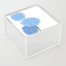 Blue Flowers Acrylic Box