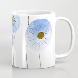 blue abstract dandelion 2 Coffee Mug