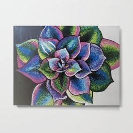 """Rainbow Succulent"" Metal Print"