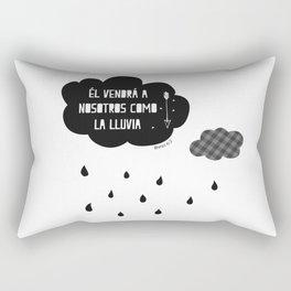 Él vendrá a nosotros como la lluvia, cuadro decorativo black and white Rectangular Pillow