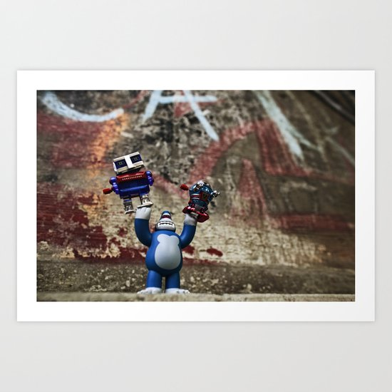 RoBots R Dum Art Print