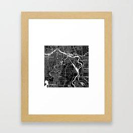 CALGARY MAP ART (BLACK) Framed Art Print