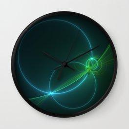 Light Flight, Abstract Fractal Art Wall Clock