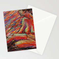 Hypatia on Fire Stationery Cards
