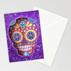 Magenta Skull Stationery Cards