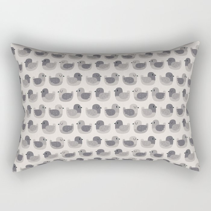 Cute Simple Pigeons Rectangular Pillow