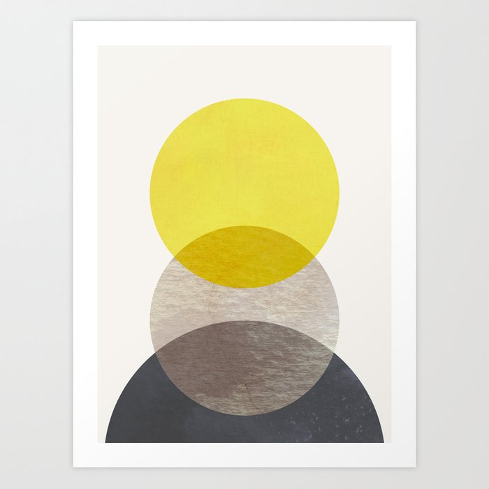 SUN MOON EARTH Art Print