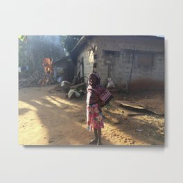 Zanzibar Bag Girl Metal Print
