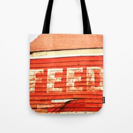 rustic feed sign Tote Bag