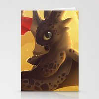 toothless Stationery Cards featuring Toothless! by NezuPanda