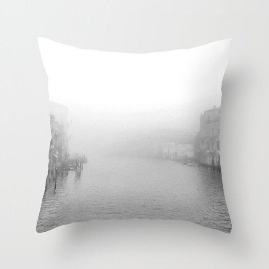 Fog in Venice Throw Pillow