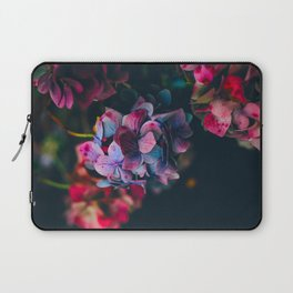 Beautiful Purple Blue Summer Hydrangea Dark Green Sensual Leaves Laptop Sleeve