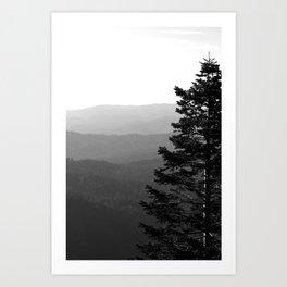 Mountain Layers Art Print