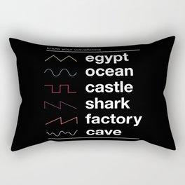 Know your Waveforms Rectangular Pillow