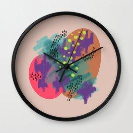 Wafer Pink Circles & Scribbles Wall Clock