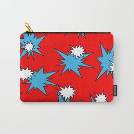 Stars (Blue & White on Red) Carry-All Pouch