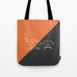 Eames Lounge // Mid Century Modern Minimalist Illustration Tote Bag