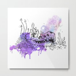 Inktober 2018 – Dino skull Metal Print