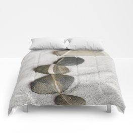 zen pebble line Comforters