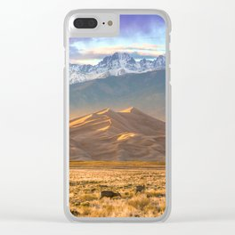 Deer and the Dunes Clear iPhone Case
