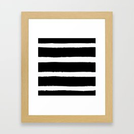 Black & White Paint Stripes by Friztin Framed Art Print