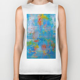 Colorful Abstract Wall Art, Vibrant colors, Contemporary home decor Biker Tank
