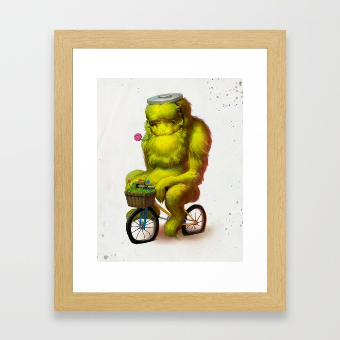 Bike Monster 1 Framed Art Print