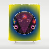 wizard Shower Curtains featuring Wizard by Spooky Dooky