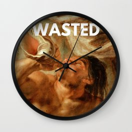 Wasted Painting Wall Clock