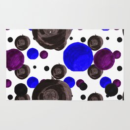 Colorful blowfishes Rug