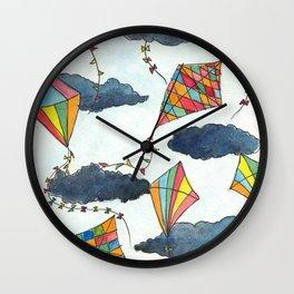 Kites Skies Wall Clock
