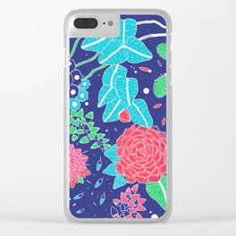 Flowers and Cactus Clear iPhone Case