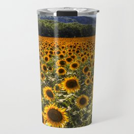 Sunflower Fields Of Dreams Travel Mug