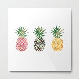 fun pineapple design Metal Print