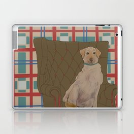 Dog in a chair #5 Golden Lab Laptop & iPad Skin
