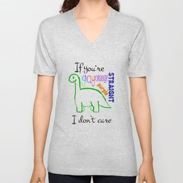 I don't care Unisex V-Neck