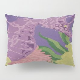 Purple Seahorse by katy Christoff Pillow Sham